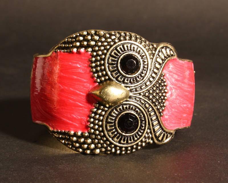 Bracelet Hibou Rouge